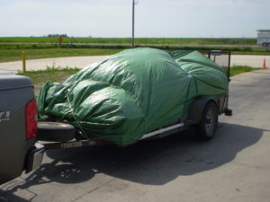 Example of a trailer following the Covered Loads Policy.