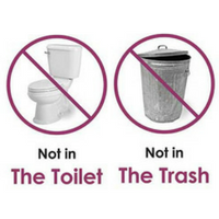 medication and sharps should NOT be flushed or thrown away