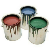 Paint should be dried and thrown away.